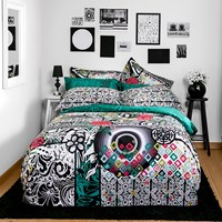 Desigual B And W Luxury Duvet Cover Single