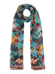 Biba Blair Floral Silk Scarf Multi Coloured Multi Coloured