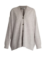 Acne Studios Mesi Oversize Wool Cardigan Light Grey