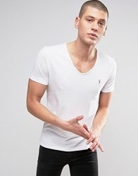 Allsaints T Shirt With Scoop Neck Optic White