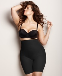 Naomi And Nicole Plus Size Firm Control High Waist Unbelievable Comfort Thigh Slimmer 7779 Black