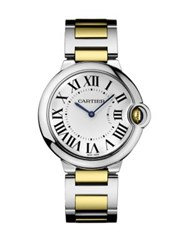 Ballon Bleu De Cartier 18K Yellow Gold And Stainless Steel Automatic Bracelet Watch No Color