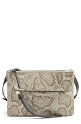 Vince Camuto Gally Leather Crossbody Bag Beige Khaki Dr Brown Graphite
