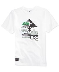 Lrg Men's Tree Tech Cotton Graphic Print Logo T Shirt White