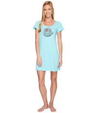 Life Is Good Hello Sunshine Sleep Tee Dress Fresh Blue Women's Pajama