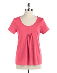Lord And Taylor Short Sleeved Scoopneck Tee Fuchsia