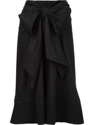 Tome 'Bow Front Band' Skirt Black