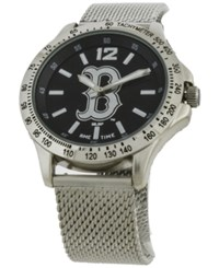 Game Time Boston Red Sox Cage Series Watch Silver Black