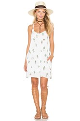 Obey Paint Bloom Dress White