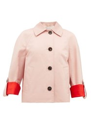 Marni Contrast Cuff Cotton Blend Jacket Pink