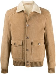 Salvatore Santoro Button Down Bomber Jacket Neutrals