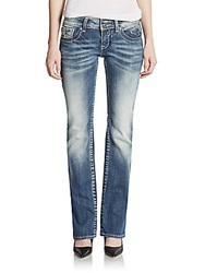 Vigoss Embroidered And Embellished Bootcut Jeans Med Wash