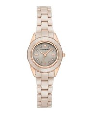 Anne Klein Ceramic Embellished Bracelet Watch Tan