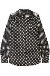 Marc Jacobs Polka Dot Silk Satin Shirt Black