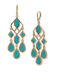 Ivanka Trump Turquoise Re Constituted Stone Chandelier Earrings