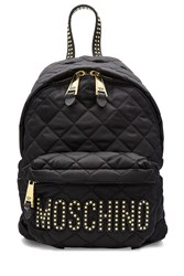 Moschino Quilted And Studded Backpack