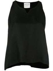 Forte Forte V Neck Tank Top Women Polyamide Viscose 2 Black