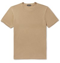 Tom Ford Lyocell And Cotton Blend Jersey T Shirt Brown