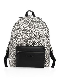 Alexander Mcqueen Tech Leopard Print Leather Backpack