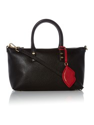 Lulu Guinness Frances Black Small Tote Bag With Lip Charm Black