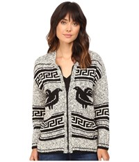 Obey Eirene Sweater Jacket Black Multi Women's Coat
