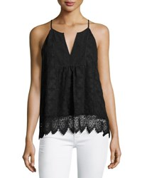 Joie Ember Sleeveless Lace Top Black