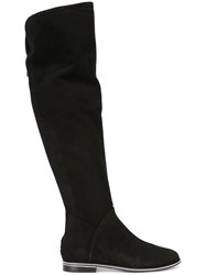 Le Silla Flat Over The Knee Boots Black
