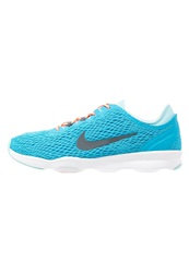 Nike Performance Zoom Quick Fit Sports Shoes Blue Lagoon Dark Grey Copa White Sunset Glow