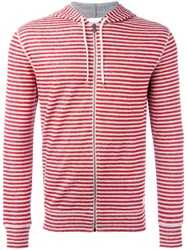 Dondup Striped Hoodie Red