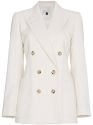 Bella Freud Bianca Double Breasted Blazer Nude And Neutrals