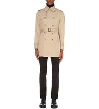 Sandro Magnetic Cotton Twill Trench Coat Beige