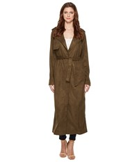 Religion Liberty Faux Suede Coat Dusty Olive Women's Coat