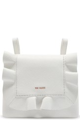 Ted Baker London Rammira Leather Convertible Backpack White