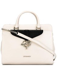 Love Moschino Double Handles Medium Tote Nude Neutrals