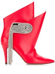 Christopher Kane Chain Brooch Boots 60