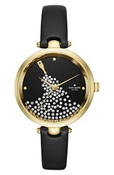 Kate Spade Women's New York Holland Crystal Dial Leather Strap Watch 34Mm