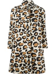 Marc By Marc Jacobs Leopard Print Coat Nude And Neutrals