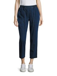 Eileen Fisher Drawstring Ankle Jeans Midnight