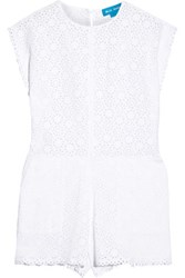 Mih Jeans M.I.H Broderie Anglaise Cotton Playsuit White
