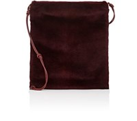The Row Women's Medicine Fur Large Crossbody Pouch Red