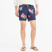 J.Crew Pre Order 6' Swim Trunk In Hibiscus Fern