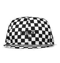 Givenchy Chequerboard Printed Shell Cap Black