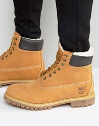 Timberland Classic Faux Shearling Premium Boots Brown