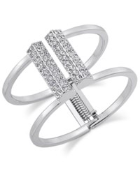 Inc International Concepts Silver Tone Pave Bar Hinge Bracelet Only At Macy's