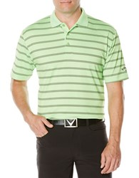Callaway Performance Striped Polo Jade Lime