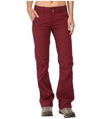 Prana Halle Pant Burgundy Women's Casual Pants
