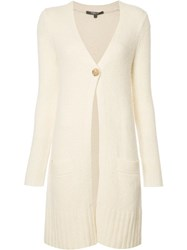 Derek Lam One Button Cardigan Nude Neutrals
