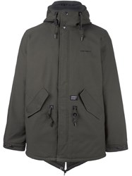 Carhartt Snap Fastening Hooded Coat Green