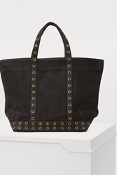 Vanessa Bruno Medium Leather Tote With Eyelets