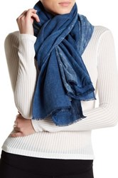 Liebeskind Printed Woven Scarf Blue